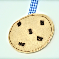 Chocolate chip cookie bookmark