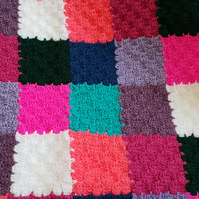 Patchwork crocheted baby blanket