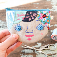 Believe in Yourself Personalised Coin Purse, Card Case OOAK Gift Made to Order