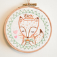 Pastel Fox Handmade Embroidery Hoop Wall Decor - Made to Order