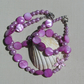 "Necklace & Bracelet Set - Shell Pearl and Mother of Pearl ""Pink Sunrise"""