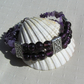 "Amethyst & Purple Silver-Foil Beaded Gemstone Bracelet ""Blackberry Sorbet"""