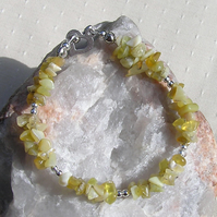 "Yellow Opal Crystal Gemstone Chakra Bracelet ""Goldilocks"""
