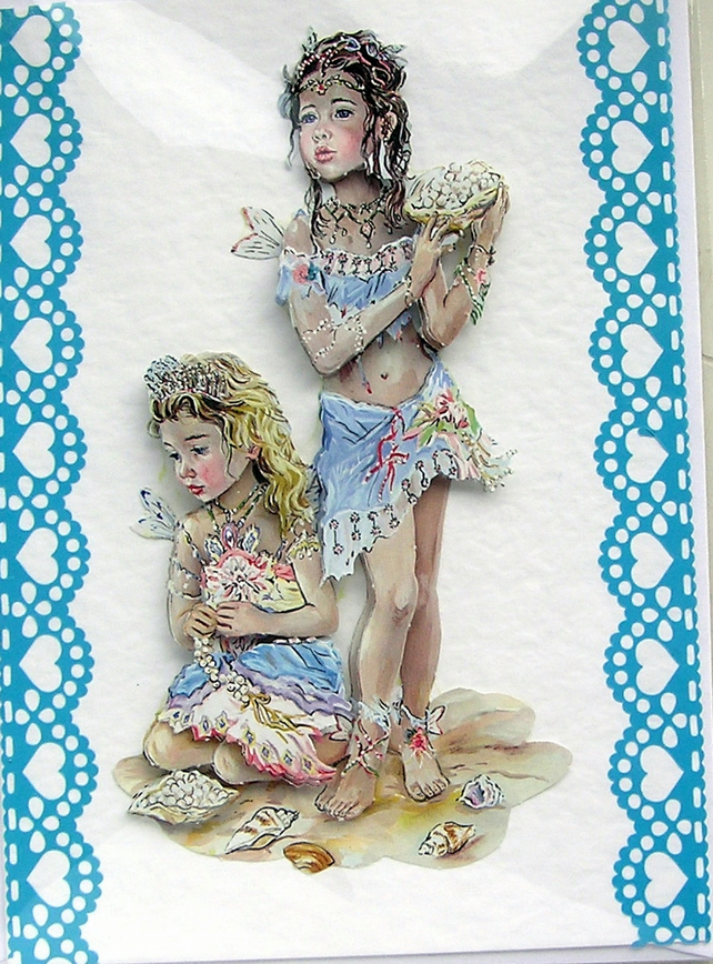 Hand Crafted 3D Decoupage Card, Blank for any Occasion (2130)