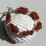 "Baltic Amber Bracelet ""Amber Melody"""