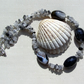 "Black Agate & Quartz Crystal Gemstone Chunky Statement Necklace ""Black Rumba"""