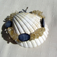 "Citrine & Black Mother of Pearl Crystal Gemstone Bracelet ""Spring Twilight"""