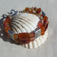 "Red Agate & Orange Carnelian Gemstone Crystal Bracelet ""A Touch of Sass"""