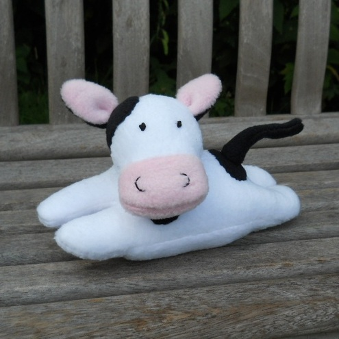 Soft toy, fleece cow, Daisy