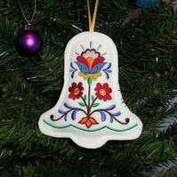Embroidered Christmas Bell decoration