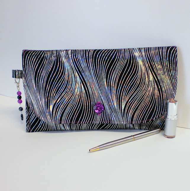 Glitzy evening clutch bag