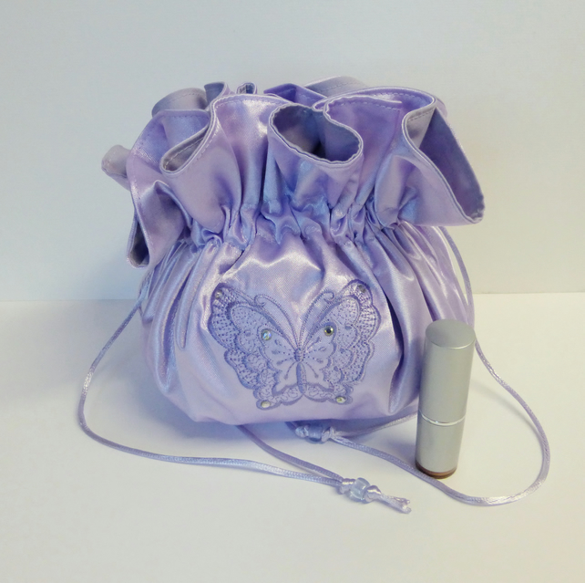 Satin dolly bag, bridal bag, evening bag