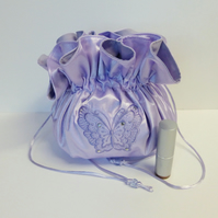 REDUCED. Satin dolly bag, bridal bag, evening bag