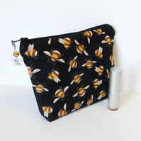 Make up bag, bees