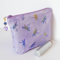 Make up bag, dragonflies