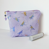 REDCED. Dragonfly make up bag, cosmetic bag.