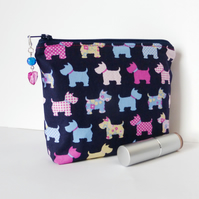 Make up bag, dogs.