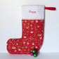 Personalised Christmas stocking, quilted