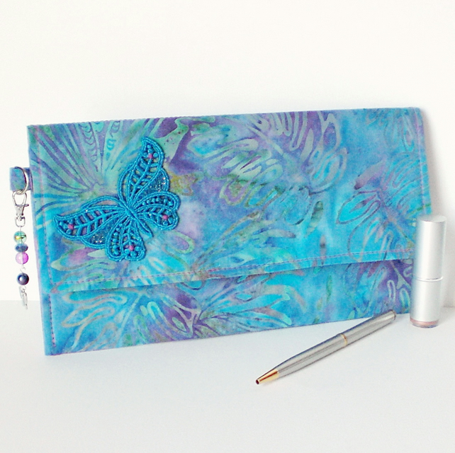 REDUCED: Batik print clutch bag