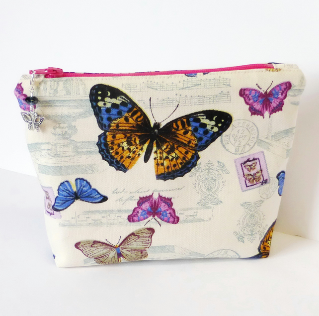 Make up bag, butterflies