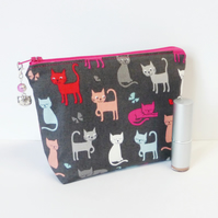 Make up bag, cats