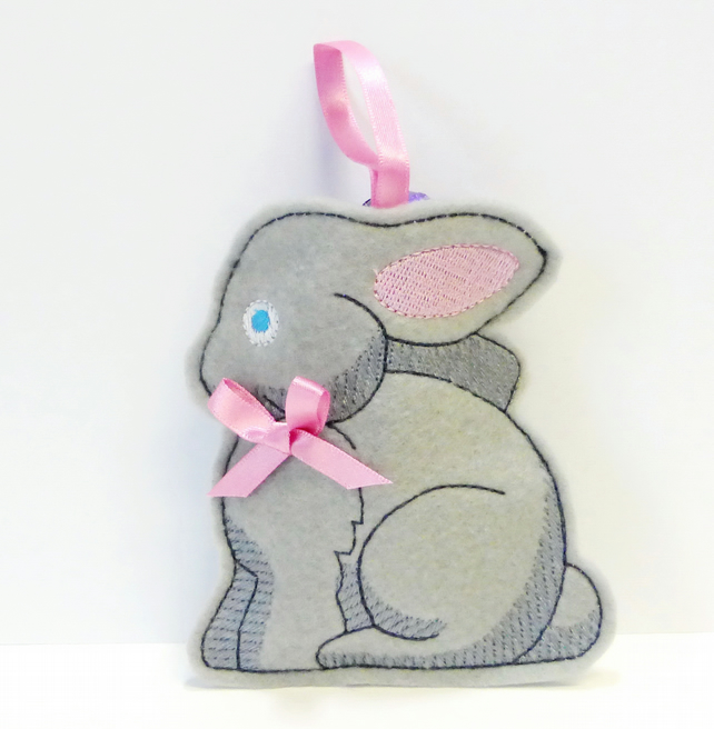 Bunny hanging treat or gift bag