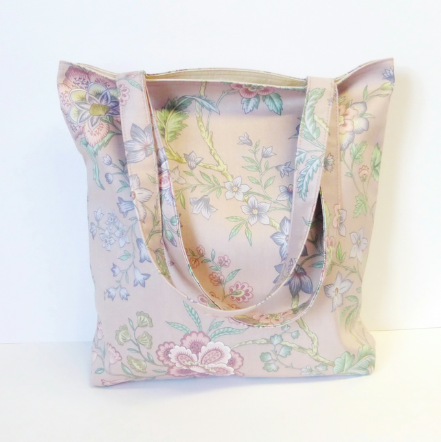 Pink Floral Tote bag, shopping bag. Special purchase