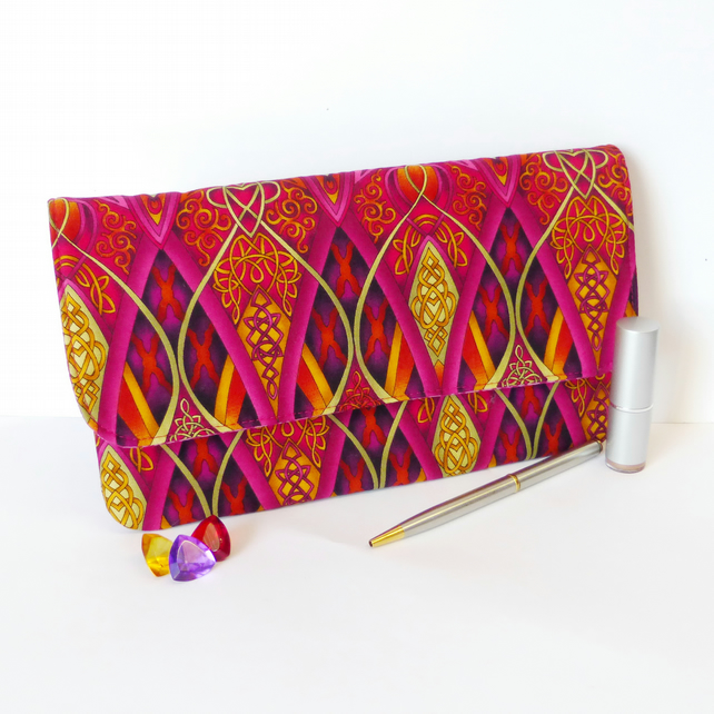 Clutch bag, multi coloured.
