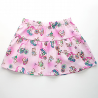 REDUCED! Toddlers elasticated skirt with teddy bear print.