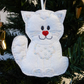 'Snow Cat' hanging decoration, felt.
