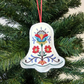 Christmas Bell decoration, embroidered