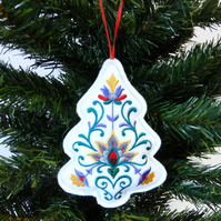 Christmas Tree decoration, embroidered