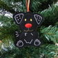 Black Dog hanging decoration, felt.