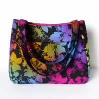 Large Handbag, tote bag. Multicoloured