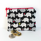 Zipped coin purse, elephants