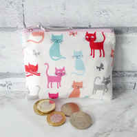 Zipped coin purse, cats