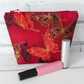 Butterfly make up bag, zipped pouch, cosmetic bag,  medium size.