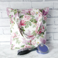 SALE. Floral Tote bag, shopping bag.