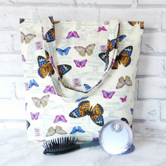 SALE:Butterfly tote bag, shopping bag.