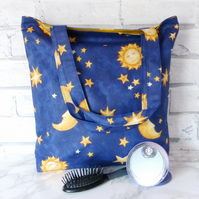 SALE: Stars and Moons Tote bag, shopping bag.