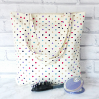 Spotty Tote Bag, shopping bag