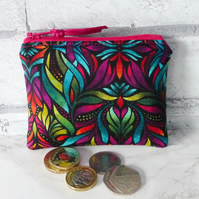Zipped coin purse