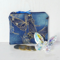 Zipped coin purse, Butterflies..