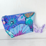 Make up bag, zipped pouch, cosmetic bag, Kaffe Fassett