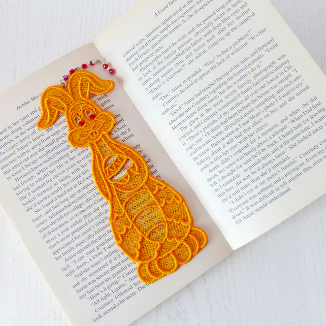 REDUCED: Easter Bunny Embroidered  Bookmark