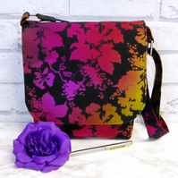 REDUCED. Messenger style handbag, shoulder bag. Multicoloured.