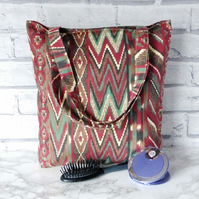 Abstract Tote bag, shopping bag.