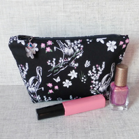 Make up bag, zipped pouch, cosmetic bag