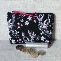 SALE:Large coin purse, make up bag, cranes.