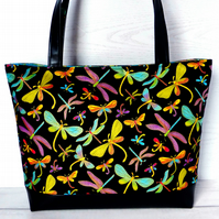 Tote bag, Craft bag, Dragonflies